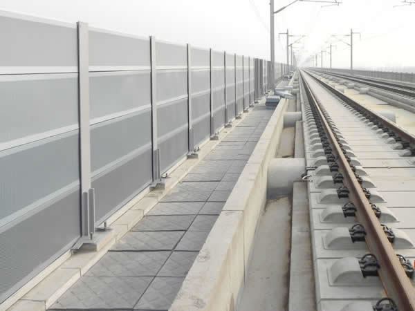 Railway Sound Barrier With Perforated Metal